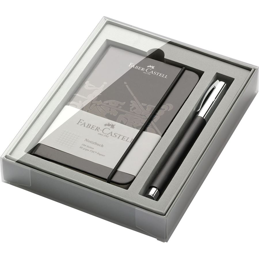 Faber-Castell - Ambition precious resin rollerball set, 2 pieces