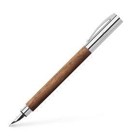 Faber-Castell - Ambition walnut wood fountain pen, M, brown