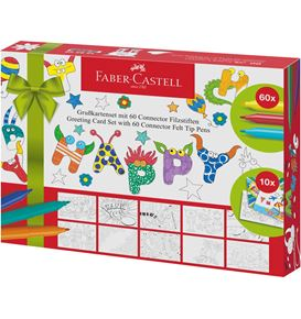 Faber-Castell - Connector felt tip pen set Greeting cards, 70 pieces