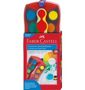 Faber-Castell - Connector paint box, red, 24 colours