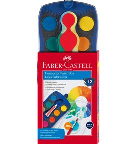 Faber-Castell - Connector paint box blue 12  + brush