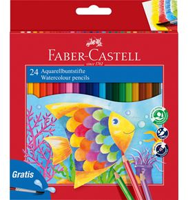 Faber-Castell - Classic Colour watercolour pencils, cardboard wallet of 24
