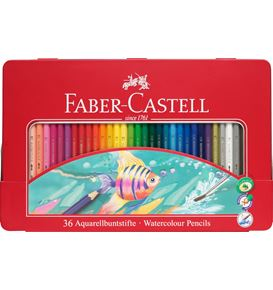 Faber-Castell - Classic Colour watercolour pencils, tin of 36