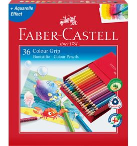 Faber-Castell - Colour Grip colour pencil, studio box of 36