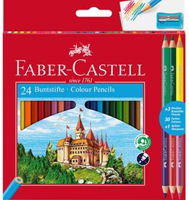 Faber-Castell - 24 Colour Ecopencils + 3 Bicolour + 1 sharpener