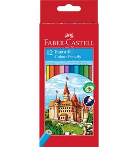 Faber-Castell - Coloured pencils Castle hexagonal cardboard box of 12