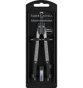 Faber-Castell - Quick-set compass with both legs jointed, silver