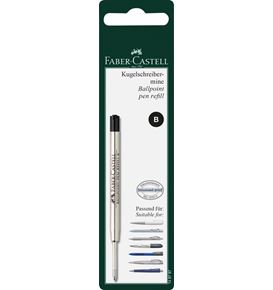 Faber-Castell - Spare refill ballpoint pen, large-capacity refill B, black