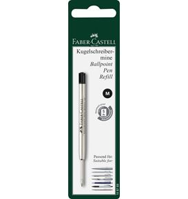 Faber-Castell - Spare refill ballpoint pen,  large-capacity refill M, black