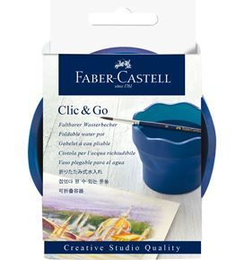 Faber-Castell - Clic&Go water cup, dark blue