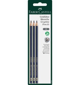Faber-Castell - Goldfaber graphite pencil, B, set of 3