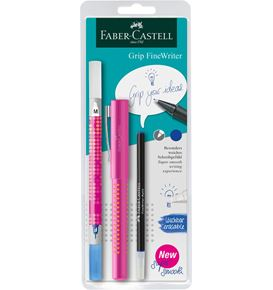 Faber-Castell - FineWriter Grip 2010 Refill blue + Ink Eraser