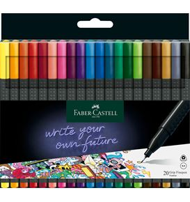 Faber-Castell - Fibre tip pen Grip Finepen 0.4 set of 20