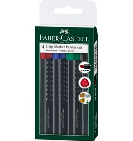 Faber-Castell - Permanentmarker Grip 1503 chisel tip set of 4