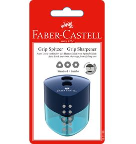Faber-Castell - Grip twin sharpening box, red/blue/black