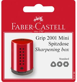 Faber-Castell - Grip Mini sharpening box, set of 1, red/blue, sorted
