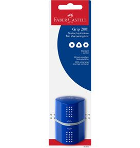 Faber-Castell - Grip 2001 trio sharpening box, set of 1, red/blue, sorted
