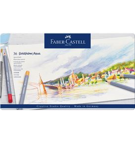 Faber-Castell - Watercolour pencil Goldfaber Aqua tin of 36