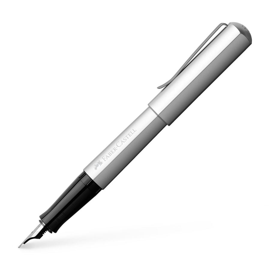 Faber-Castell - Fountain pen Hexo silver broad