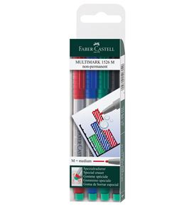Faber-Castell - Multimark overhead marker water-soluble, M, wallet of 4