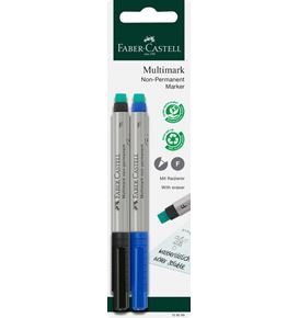 Faber-Castell - Multimark marker water-soluble, F, blue/black