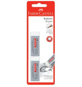 Faber-Castell - Dust-free eraser, white, set of 2