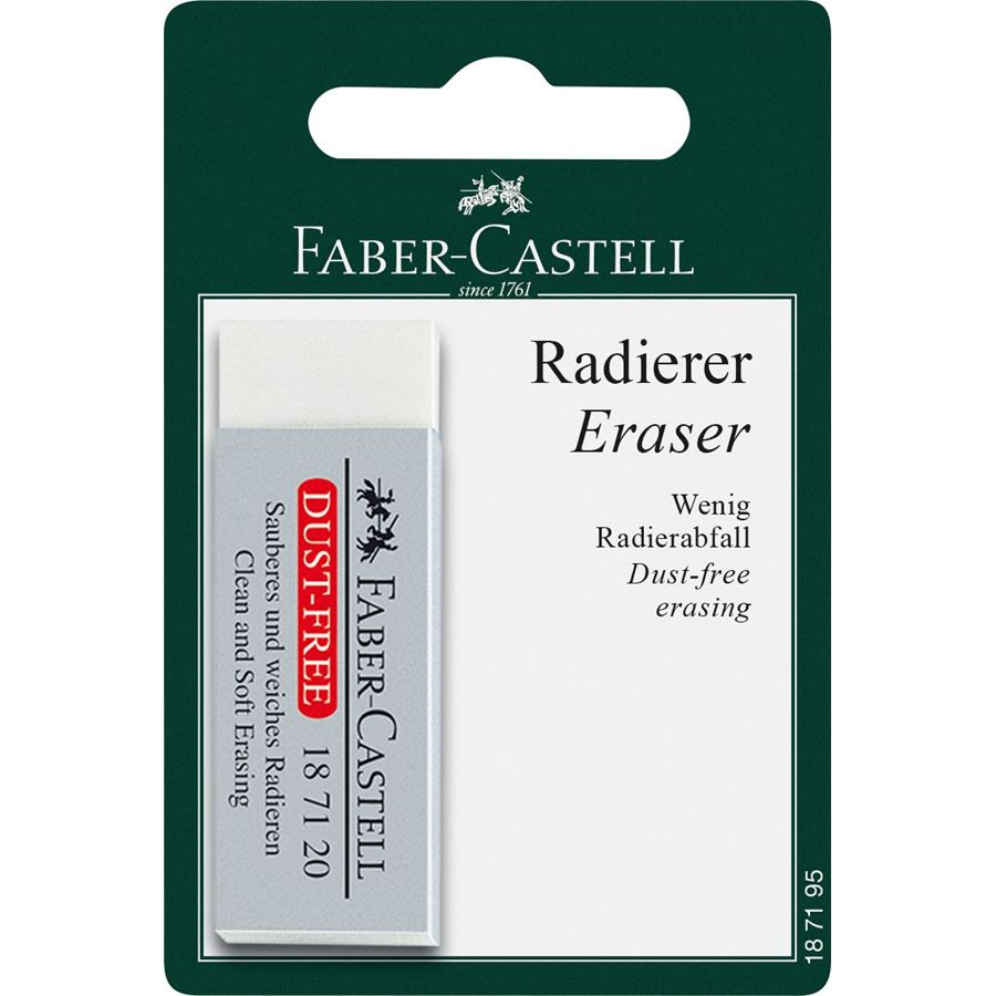 Faber-Castell - Dust-free eraser, white, set of 1