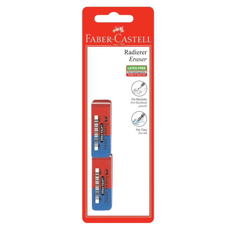 Faber-Castell - 7070-40 latex-free eraser, set of 2