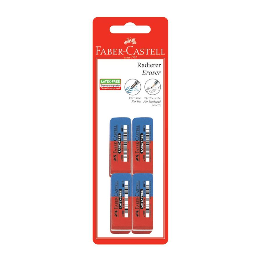 Faber-Castell - 7070-40 latex-free eraser, set of 4