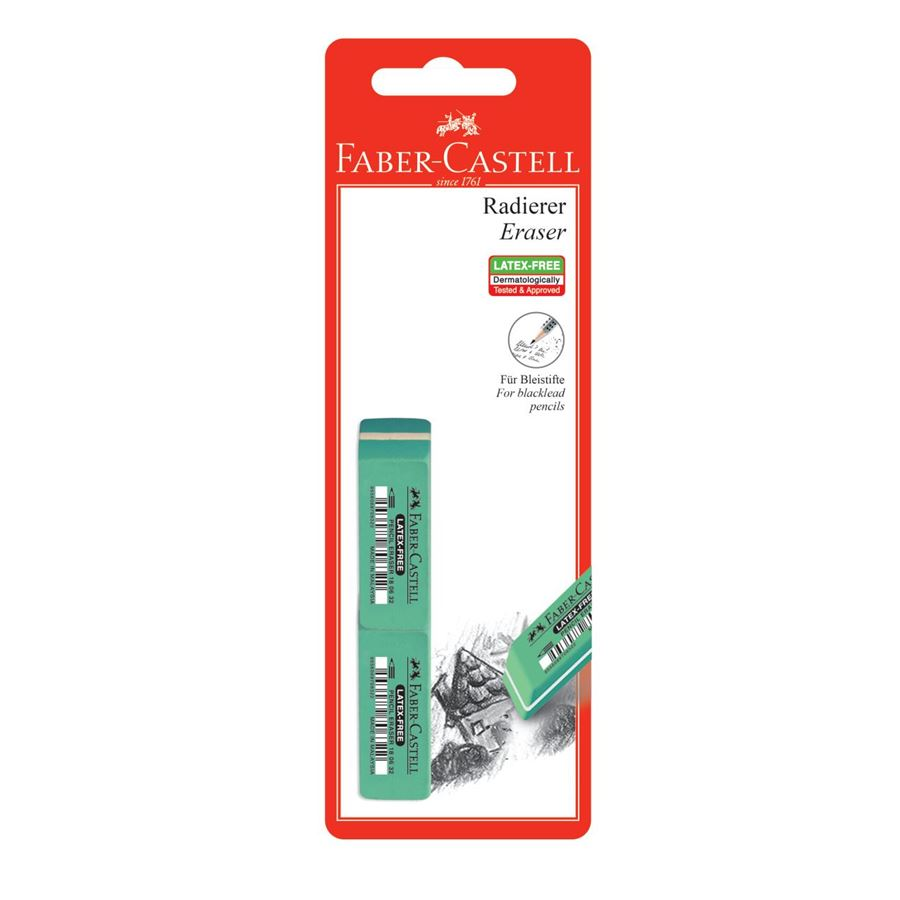Faber-Castell - 7006-32 latex-free eraser, set of 2