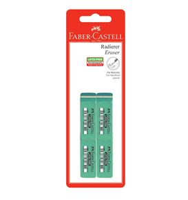 Faber-Castell - 7006-32 latex-free eraser, set of 4
