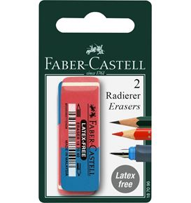 Faber-Castell - 7070-40 latex-free eraser for ink/pencil, set of 2