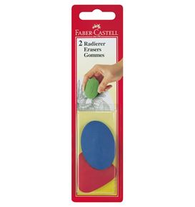 Faber-Castell - Oval/triangular eraser, set of 2