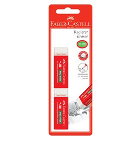 Faber-Castell - 7095-20 eraser, white, set of 2