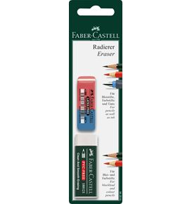 Faber-Castell - Eraser, set with 1x 7081 N eraser and 1x 7070-40 eraser