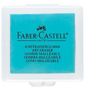 Faber-Castell - Kneadable eraser, turquoise, blackberry, blue