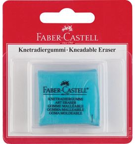 Faber-Castell - Kneadable eraser in plastic box, pink, lemon or turquoise