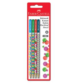 Faber-Castell - Bubble graphite pencil, blister card of 4