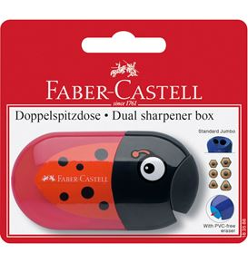 Faber-Castell - Animal motif twin sharpening box with eraser