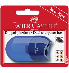 Faber-Castell - Twin sharpening box, set of 1, red/blue, sorted