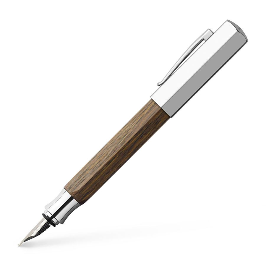 Faber-Castell - Ondoro smoked oak fountain pen, M