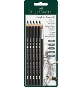 Faber-Castell - Graphite Aquarelle pencil set, 6 pieces