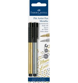 Faber-Castell - Pitt Artist Pen Metallic 1.5 India ink pen, gold/silver