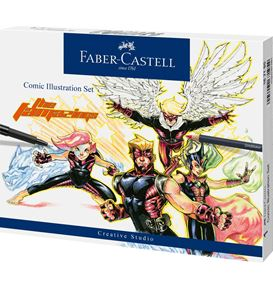 Faber-Castell - Comic Illustration set, 15 pieces