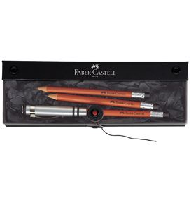 Faber-Castell - Perfect Pencil Fine Writing gift set, reddish brown, 3 pcs