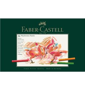 Faber-Castell - Polychromos pastel, cardboard wallet of 36