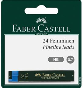 Faber-Castell - Super-Polymer fineline lead, HB, 0.7 mm, set of 2