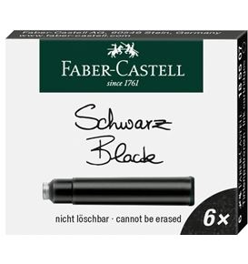 Faber-Castell - Ink cartridges, standard, 6x black