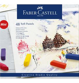 Faber-Castell - Soft pastels mini, cardboard wallet of 48