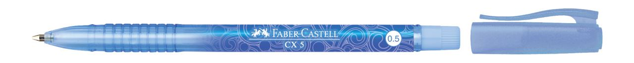 Faber-Castell 10 Pens Blue Ink Barrel 1423 Ball Point Pen Size 0.5mm Ballpoint for sale online